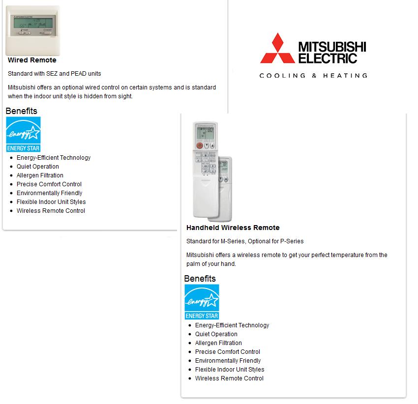 Mitsubishi Thermostats
